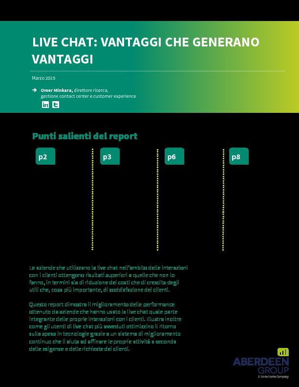 Live Chat: Vantaggi che generano Vantaggi