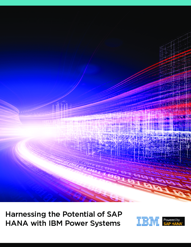 Thumb original harnessing the potential of sap hana with ibm power systems