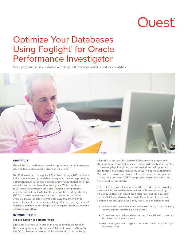 Thumb original optimize your databases using foglight for oracle s performance investigator technical brief 17220