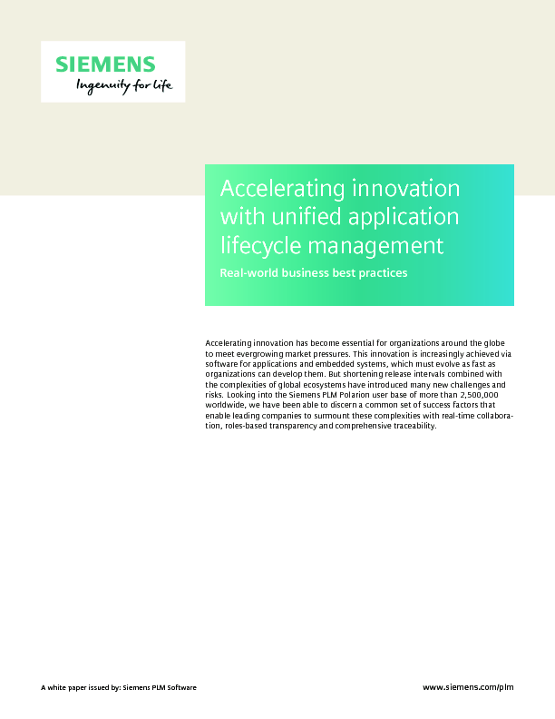 Thumb original siemens plm polarion accelerating innovation with unified application li...