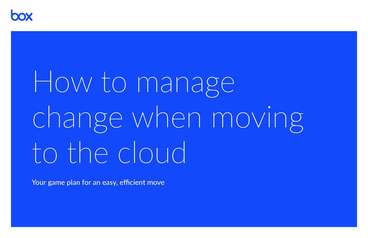 Thumb original change management guide