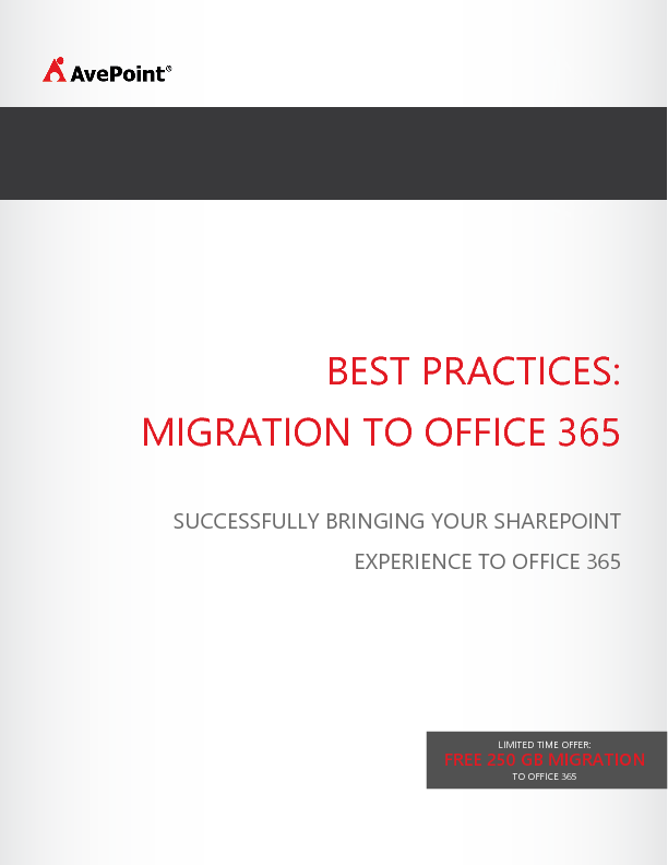 Thumb original avepoint best practices migration to office 365