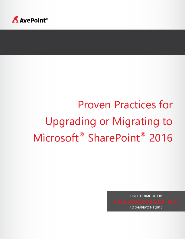 Thumb original avepoint best practices migration to sharepoint 2016