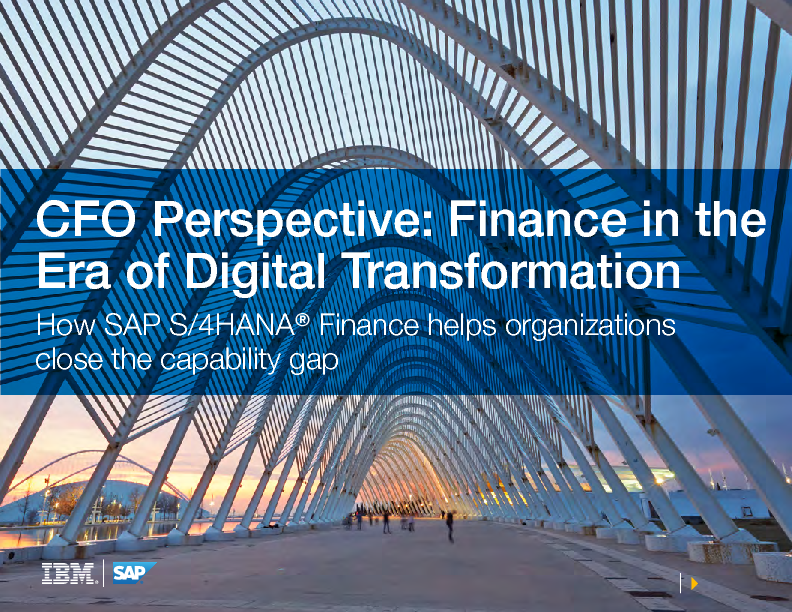 CFO Perspective: Finance in the Era of Digital Transformation