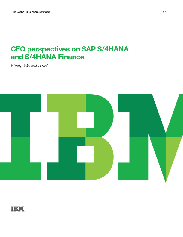 CFO perspectives on SAP S/4HANA and S/4HANA Finance
