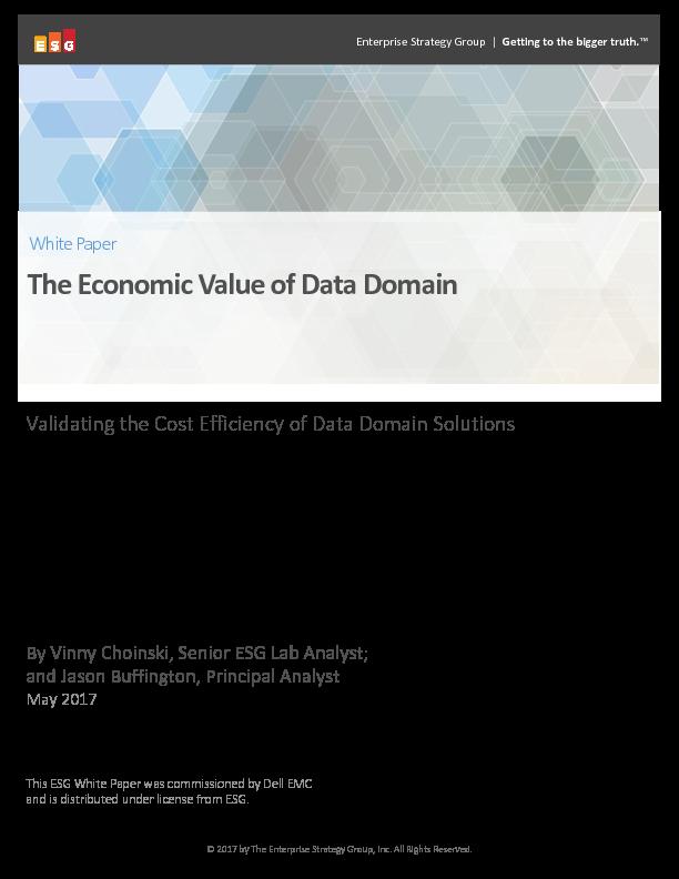 Square cropped thumb original esg white paper   the economic value of dell emc data domain