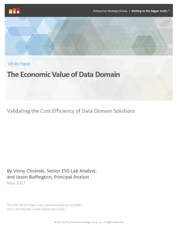 Thumb original esg white paper   the economic value of dell emc data domain