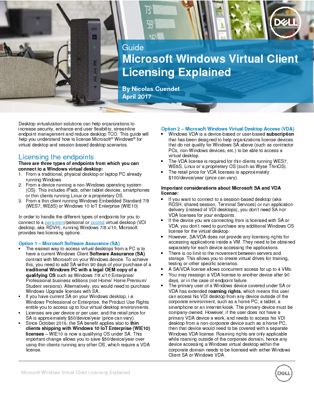 Thumb original 4 gatedwhitepaper guide to microsoft windows virtual client licensing