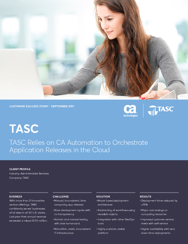 Thumb original tasc relies on ca automation to orchestrate application releases in the cloud 1