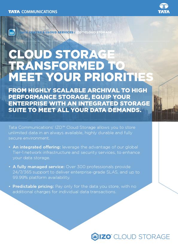 Thumb original izo cloud storage datasheet