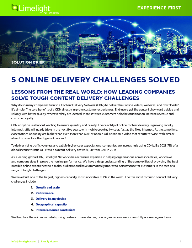 Thumb original 5 online delivery challenges solved