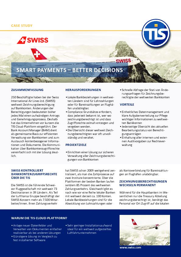 Case Study -  Swiss Airlines DE