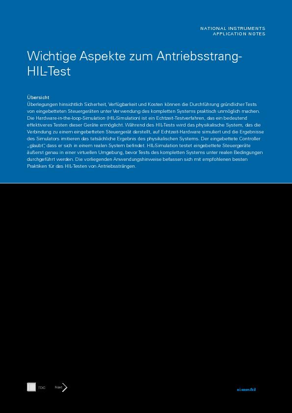 Wichtige Aspekte zum Antriebsstrang-HIL-Test