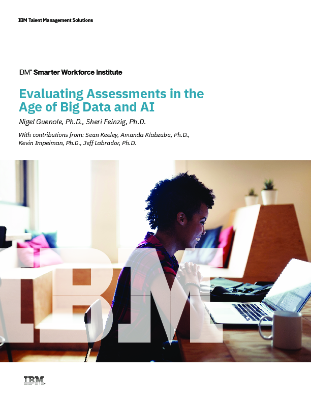 Evaluating Assessments in the Age of Big Data and AI