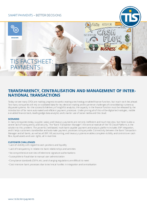 Transparency, centralisation and management of international transactions