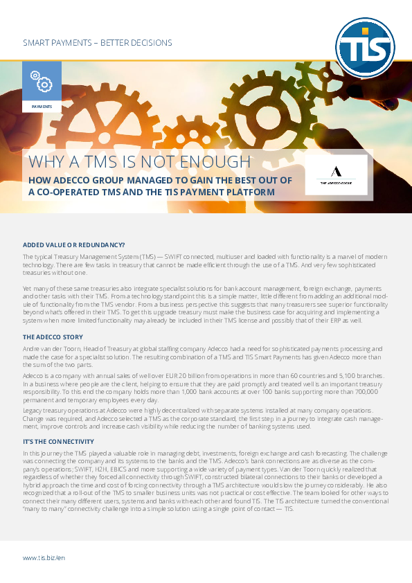Why a TMS is not enough