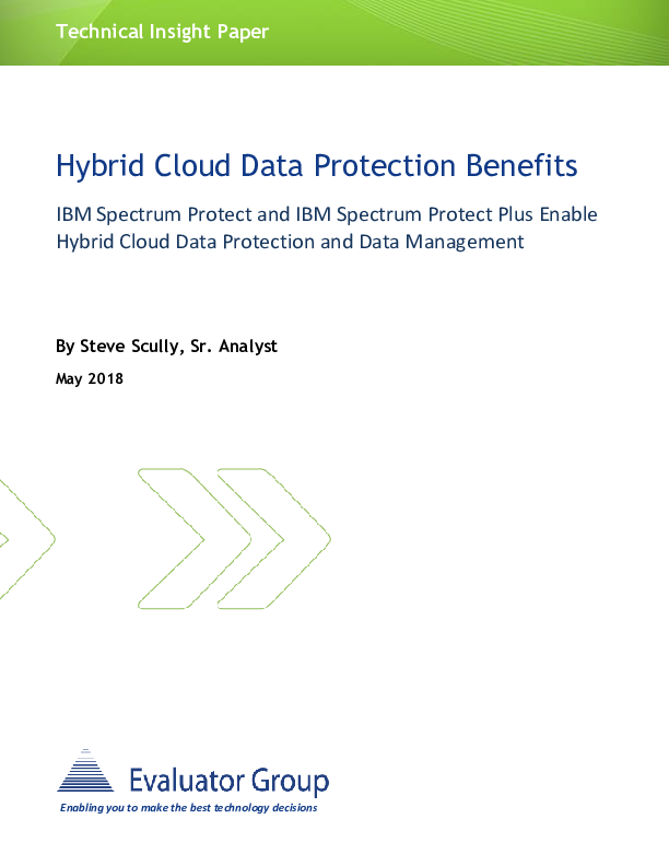 Square cropped thumb original ibm spectrum protect technology insight may 2018 hybrid cloud data protection 30018330usen