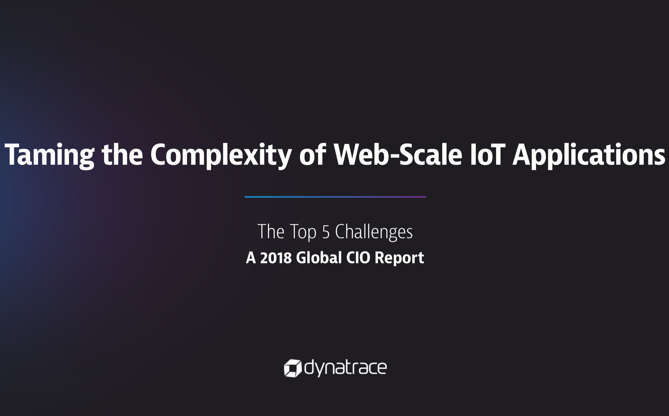 Taming the Complexity of Web-Scale IoT Applications