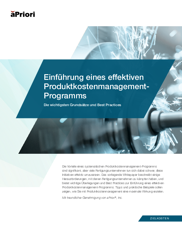 Einführung eines effektiven Produktkostenmanagement-Programms