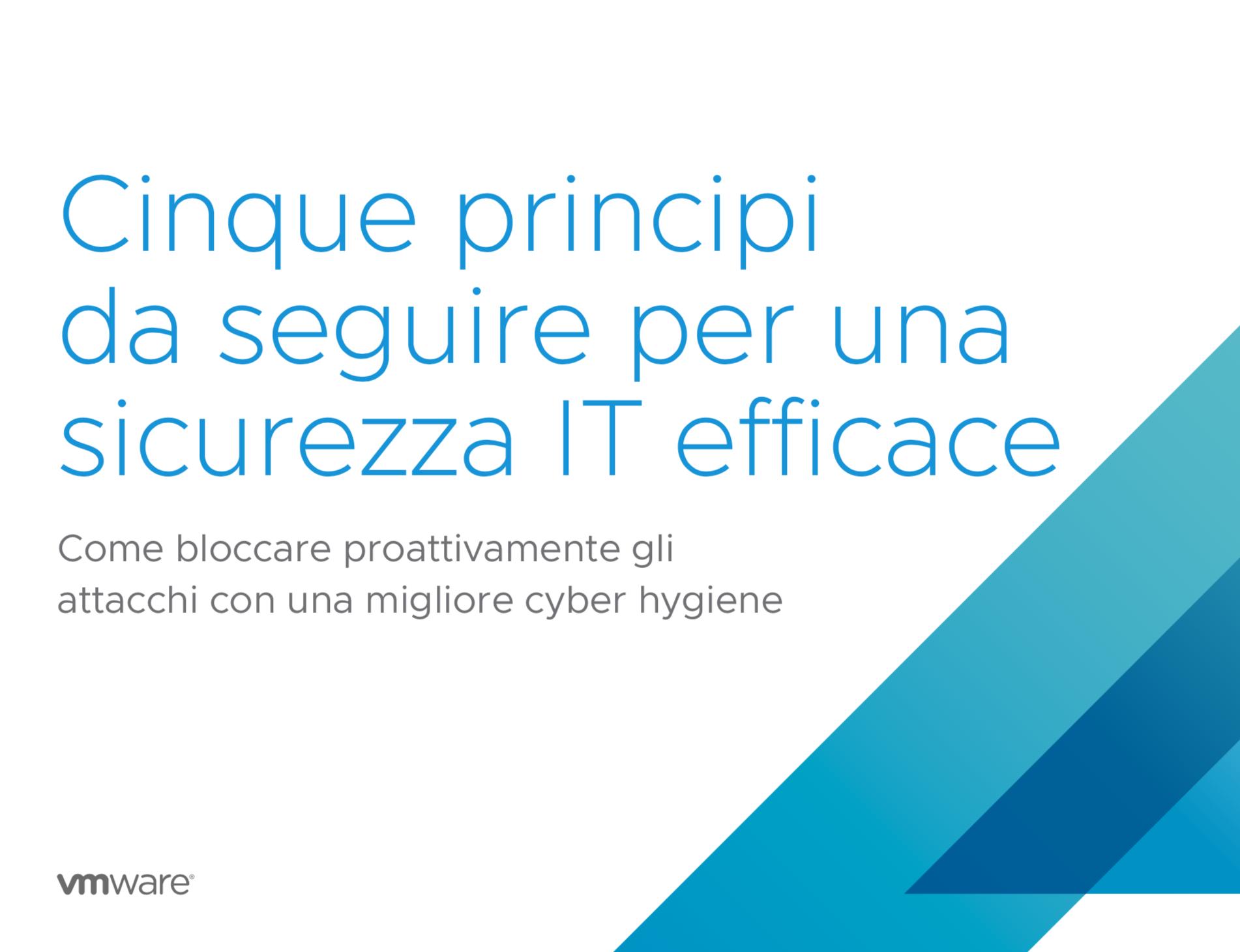 Cinque principi da seguire per una sicurezza IT efficace