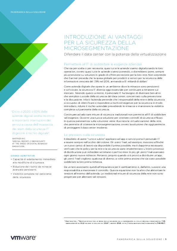 Introduzione Ai Vantaggi Per La Sicurezza Della Microsegmentazione