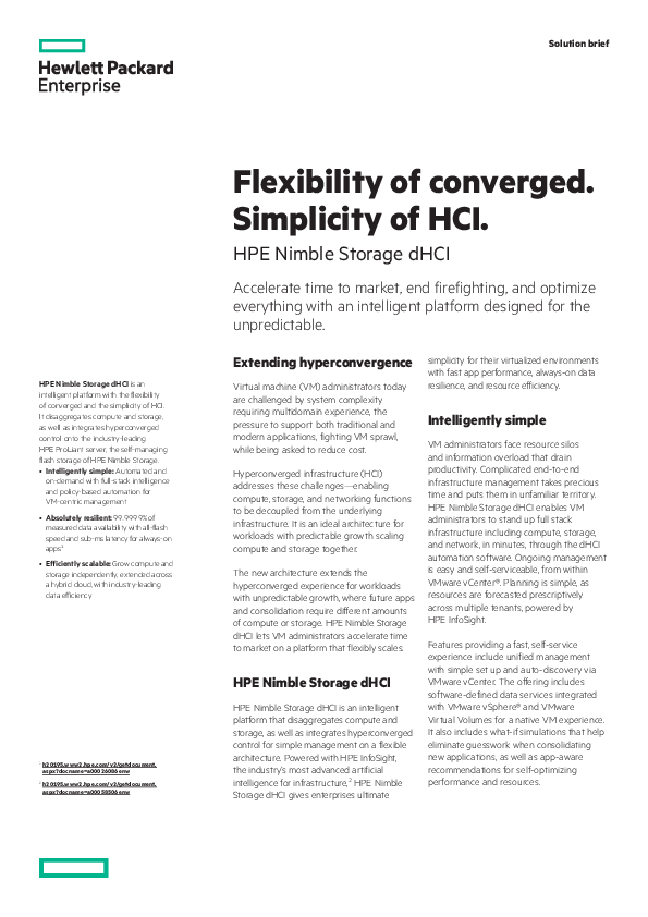 Thumb original flexibility of converged. simplicity of hci solution brief