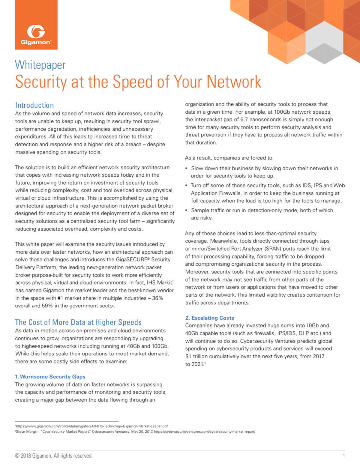 Security at the Speed of Your Network