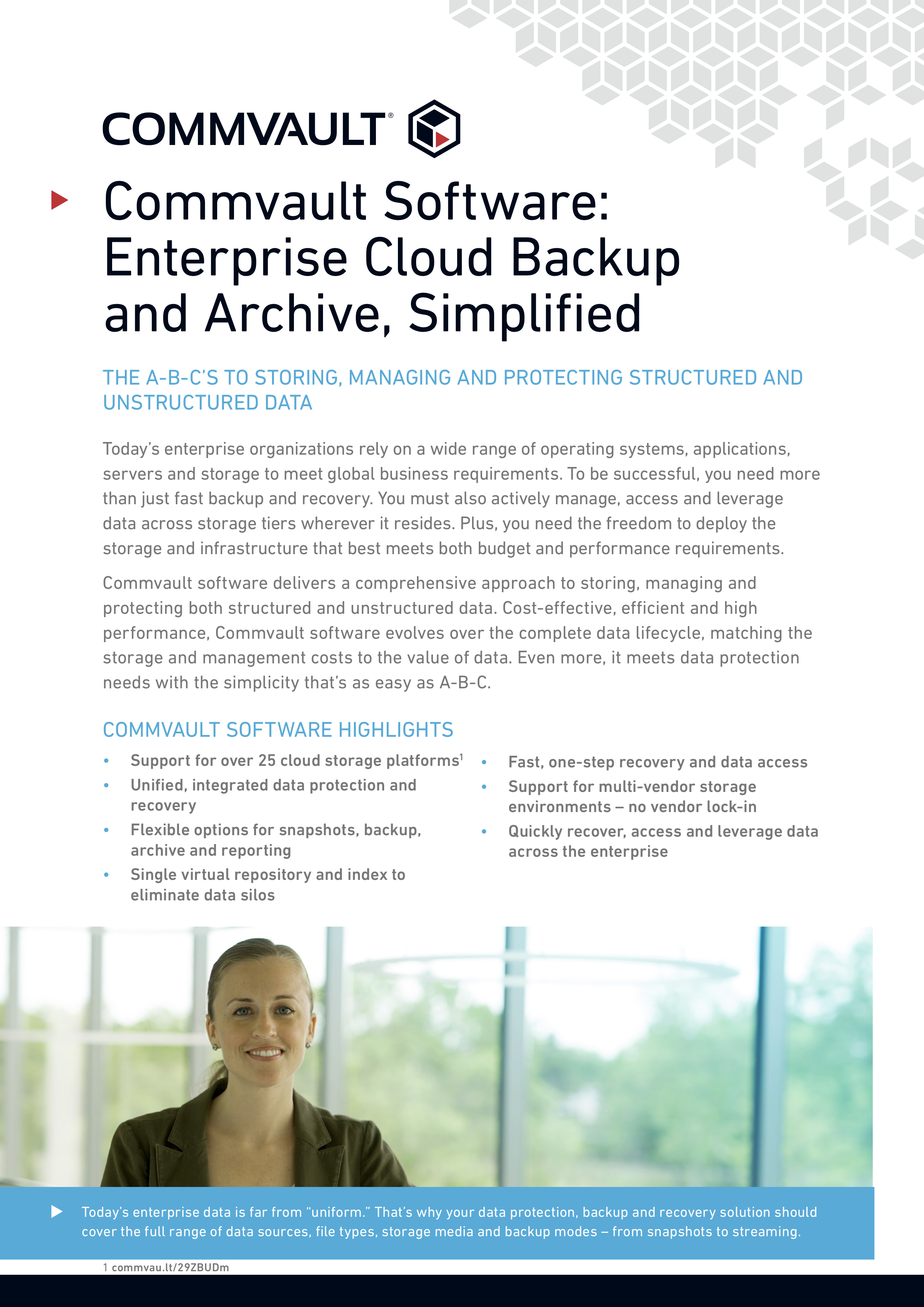 Commvault software backup archive and cloud simplified