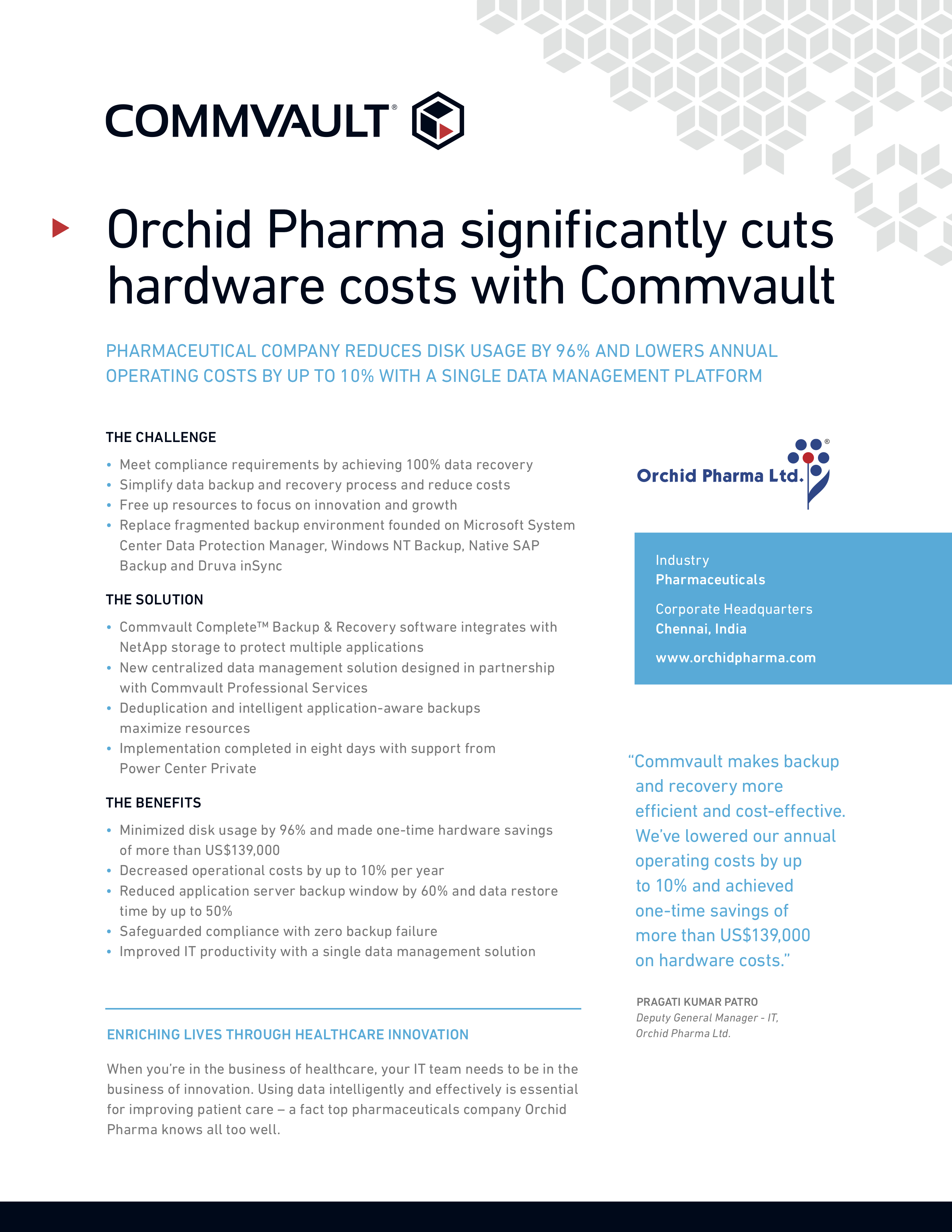 Orchid pharma case study