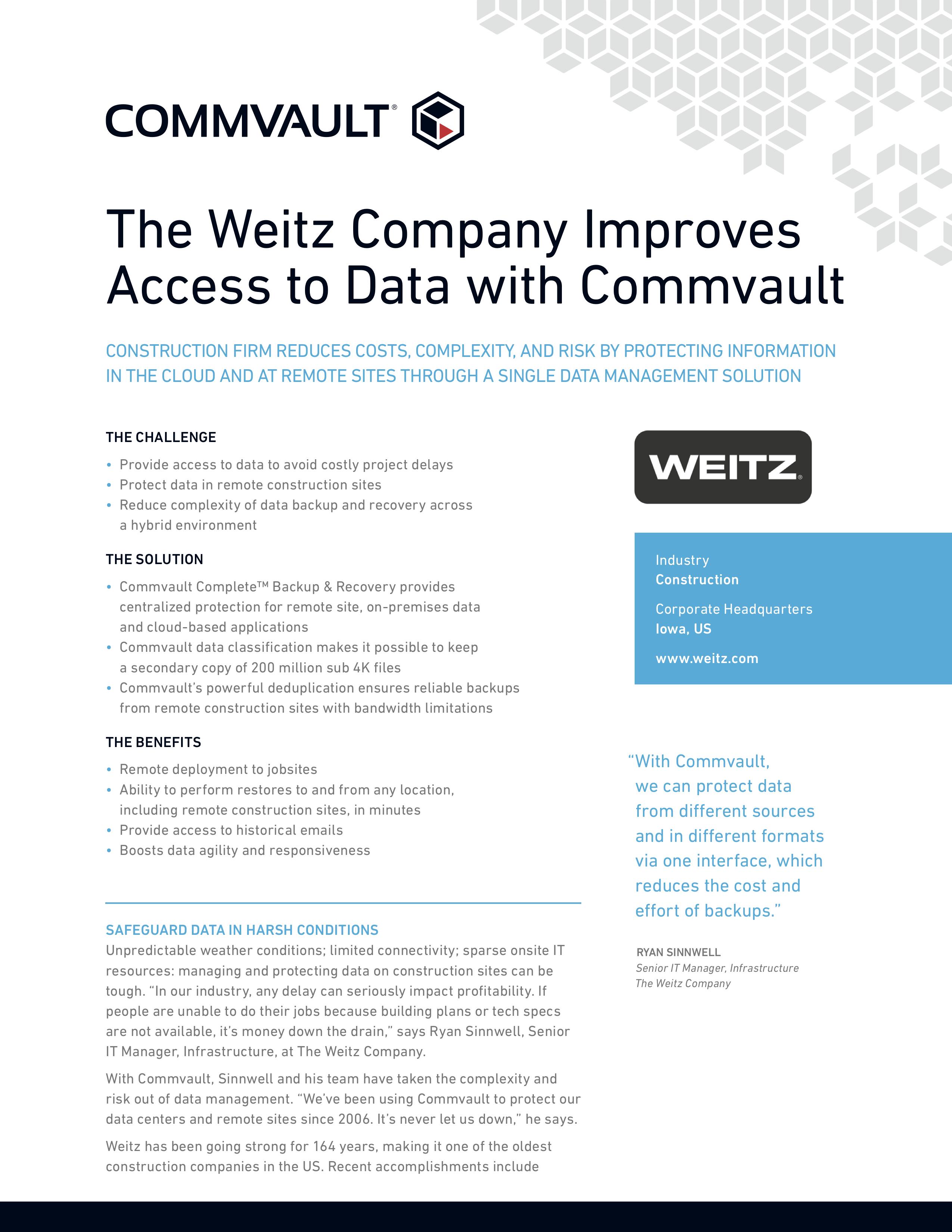 Weitz case study