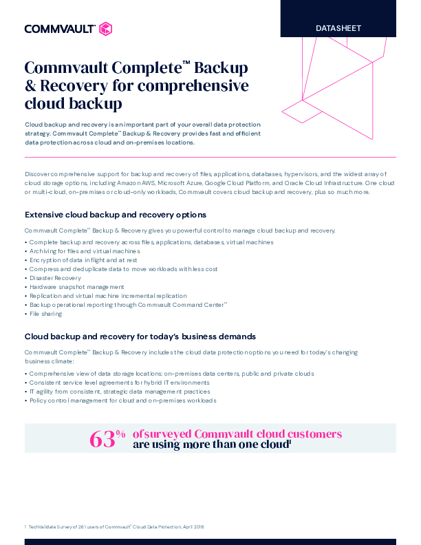 Thumb original commvault complete backup and recovery for comprehensive cloud backup