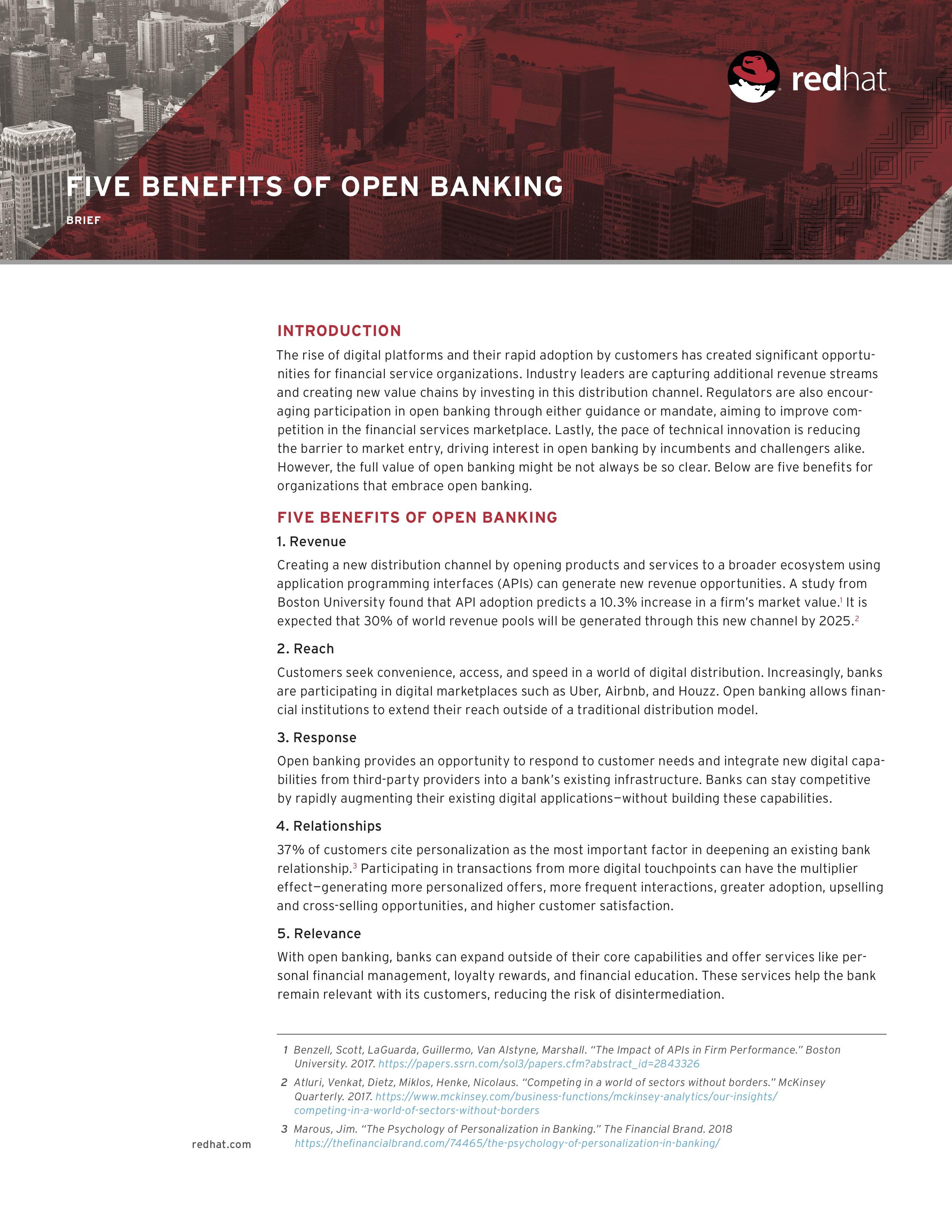 Ve five benefits of open banking brief f14365wg 201810 en