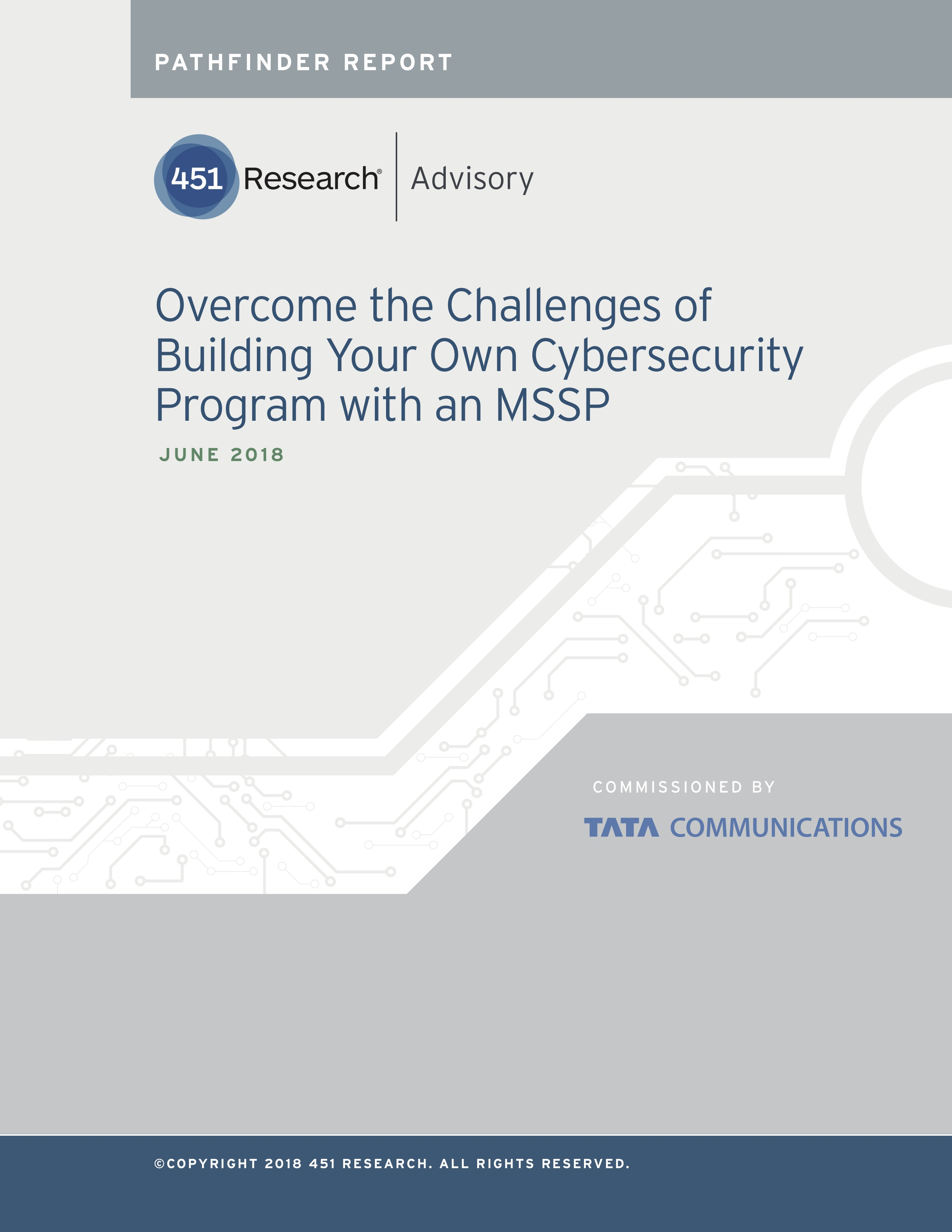 Pathfinder report  overcome the challenges of building your own cybersecurity program with an mssp