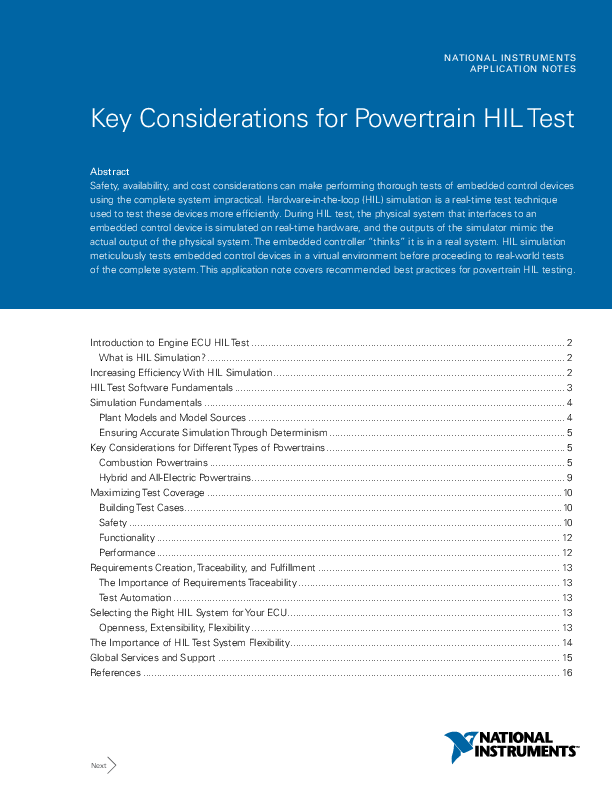 Thumb original key considerations for powertrain hil test