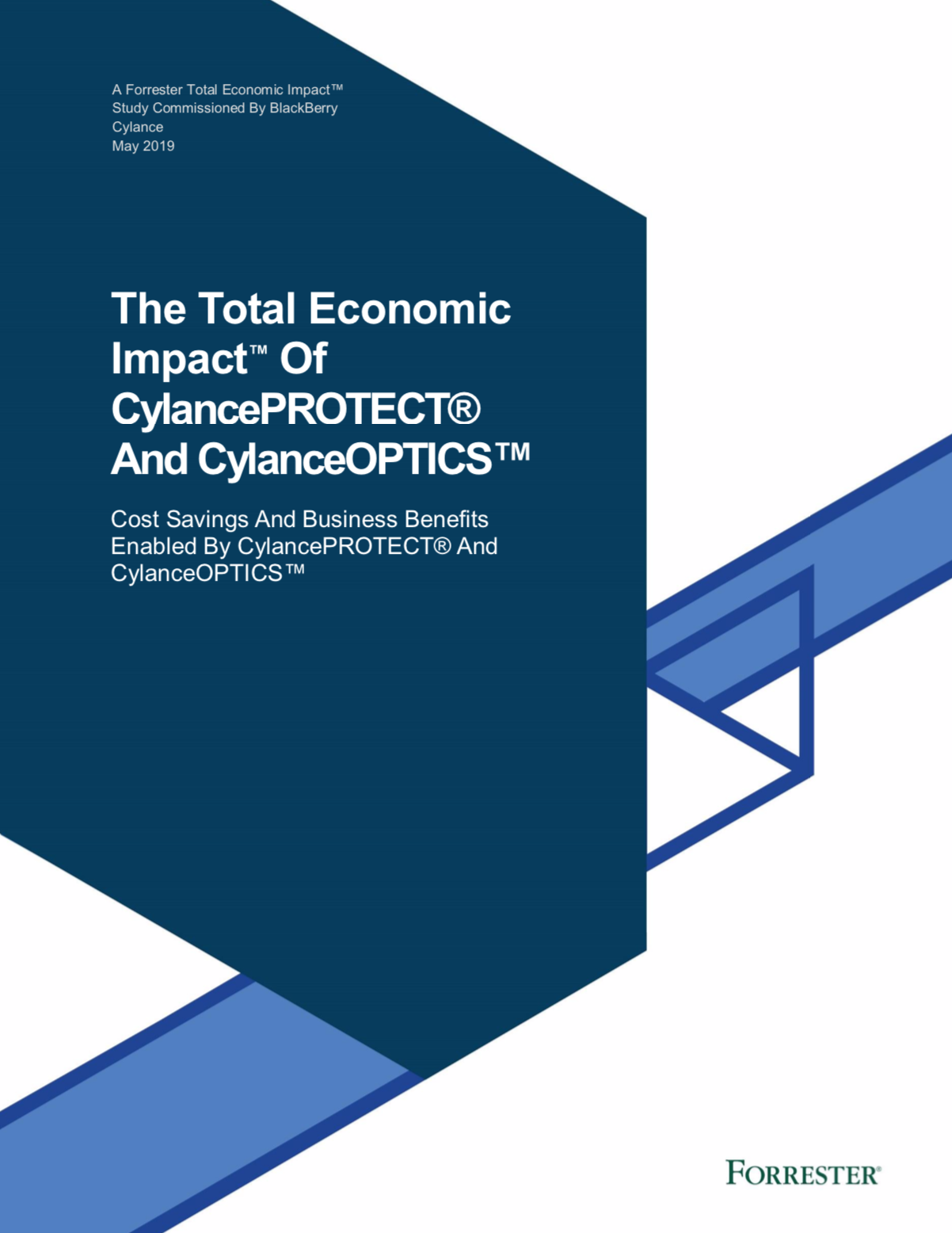 The Total Economic Impact<sup>TM</sup> Of CylancePROTECT<sup>®</sup> And CylanceOPTICS<sup>TM</sup>