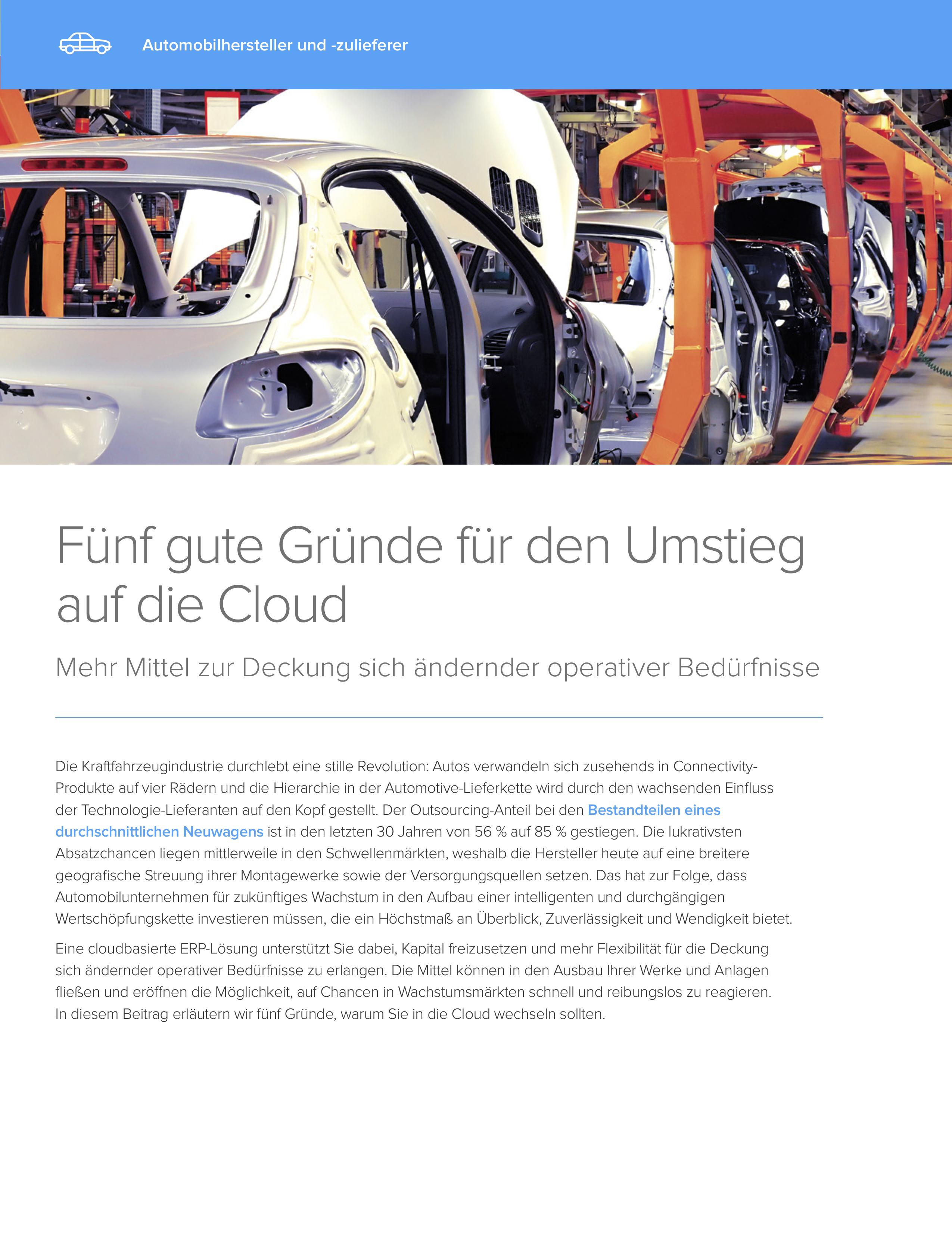 5 grunde fur den umstieg in  die cloud  automotive cover