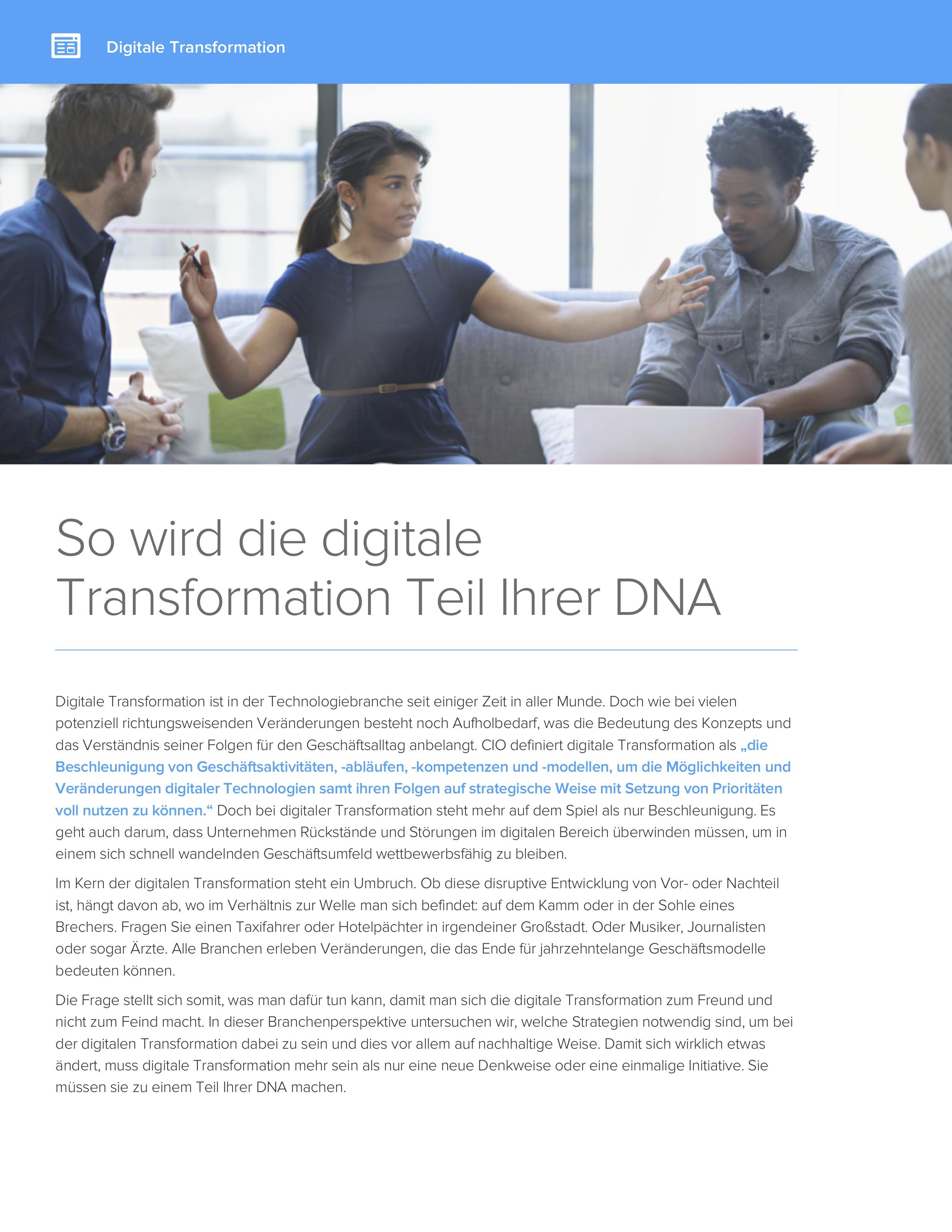 So wird die digitale transformation teil ihrer dnacover