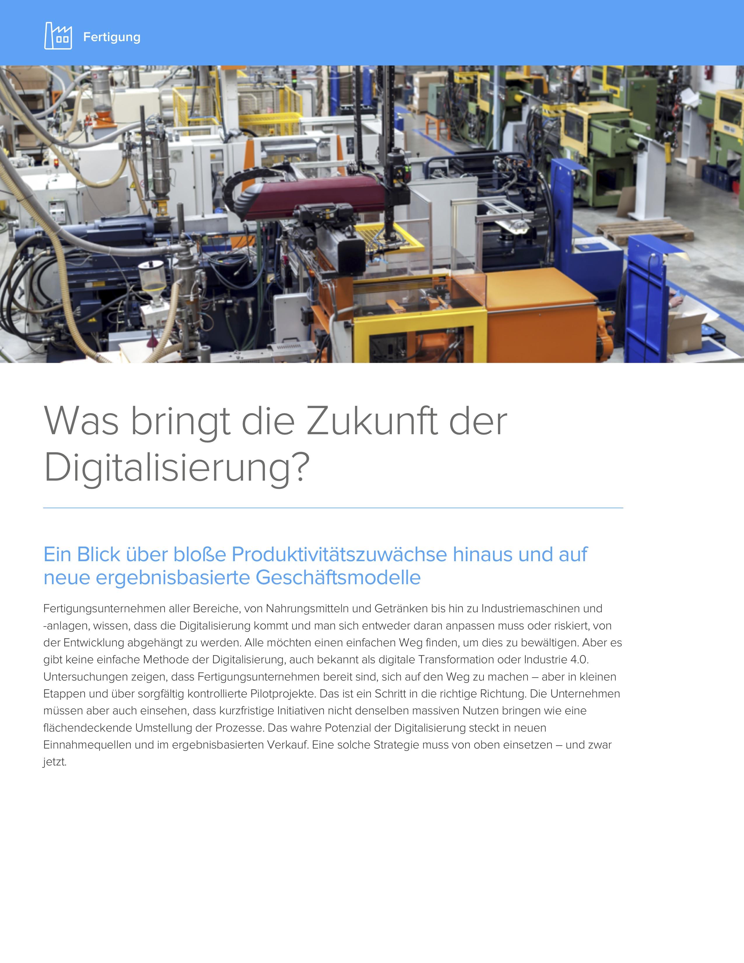 Was bring die zukunft der digitalisierungcover