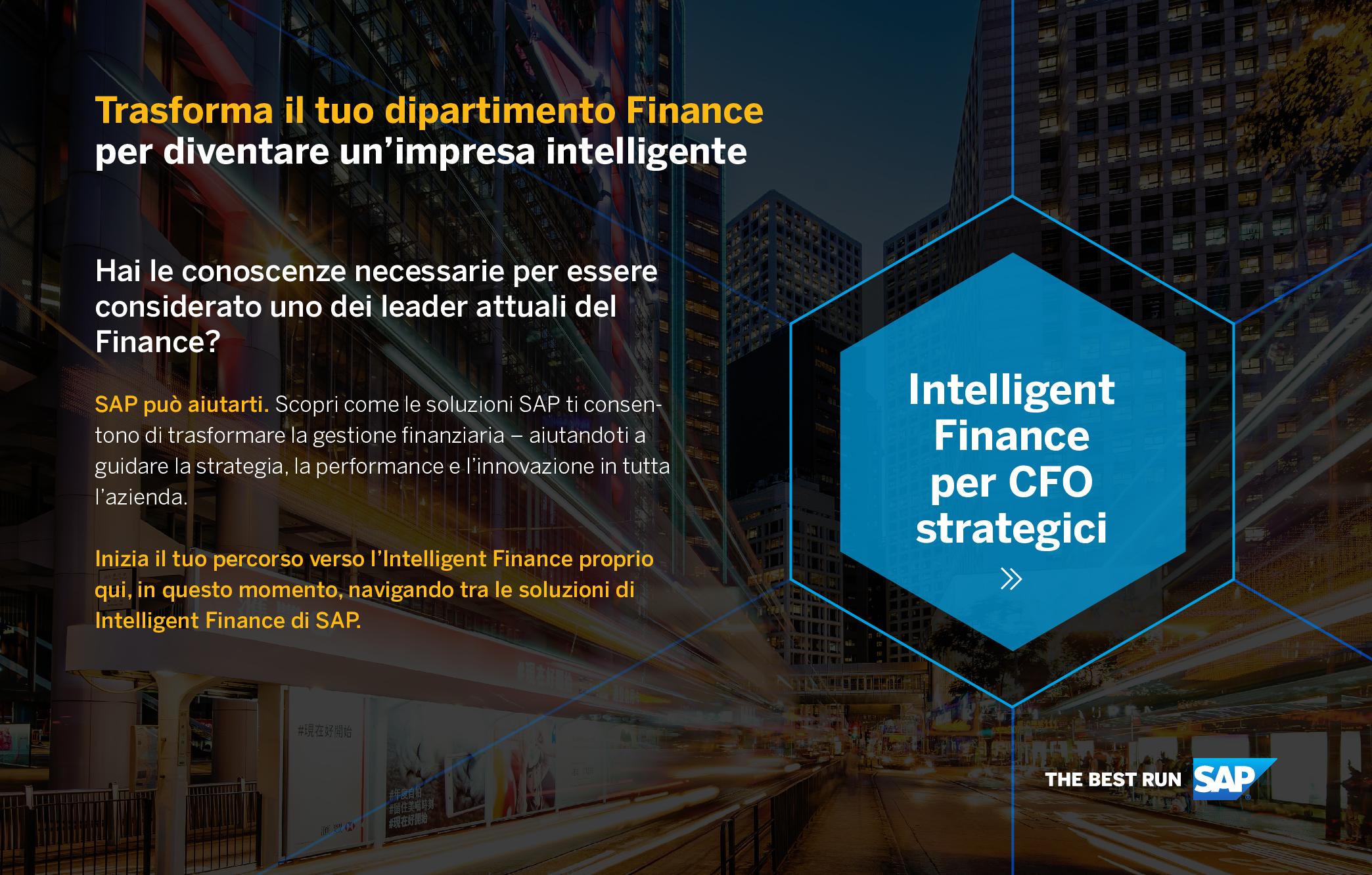 Trasforma il tuo dipartimento Finance per diventare un'impresa intelligente