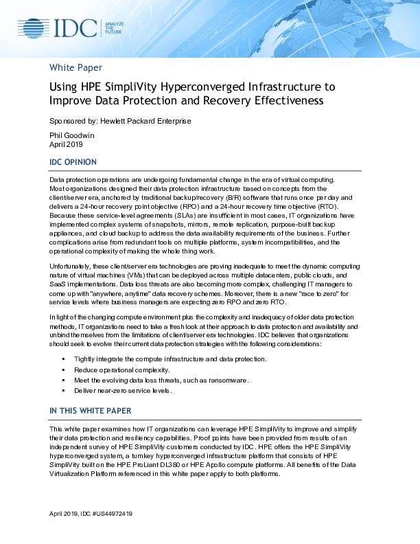 Thumb original idc paper datacenters leverage hpe simplivity to drive operational simplicity  improved performance  and other critical datacenter benefits