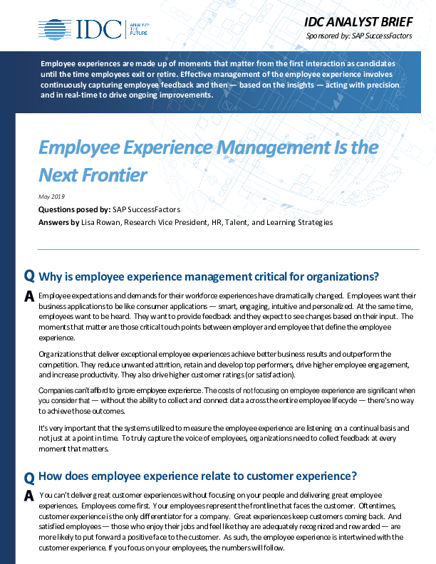 Thumb original idc analyst brief employee experience management is the next frontier