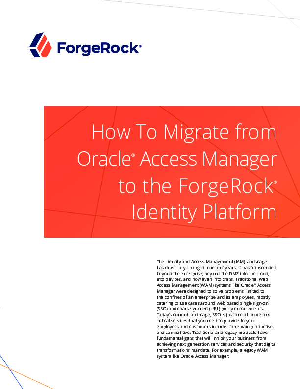 Thumb original how to migrate from oracle access manager to the forgerock identity platform