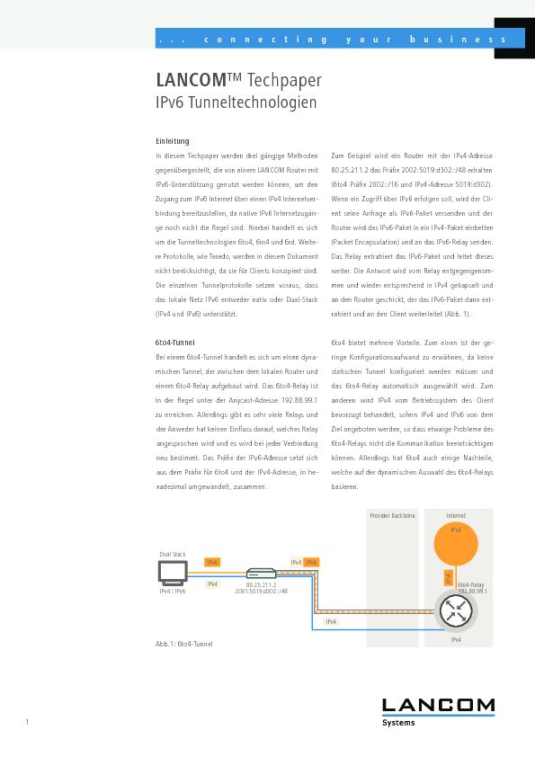 Thumb original whitepaper lancom tp ipv6 technologie