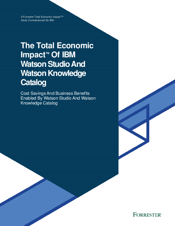Thumb original the total economic impact of ibm watson studio and watson knowledge catalog 60017860usen  2
