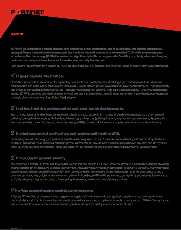 Thumb original checklist the 5 keys to self healing secure sd wan