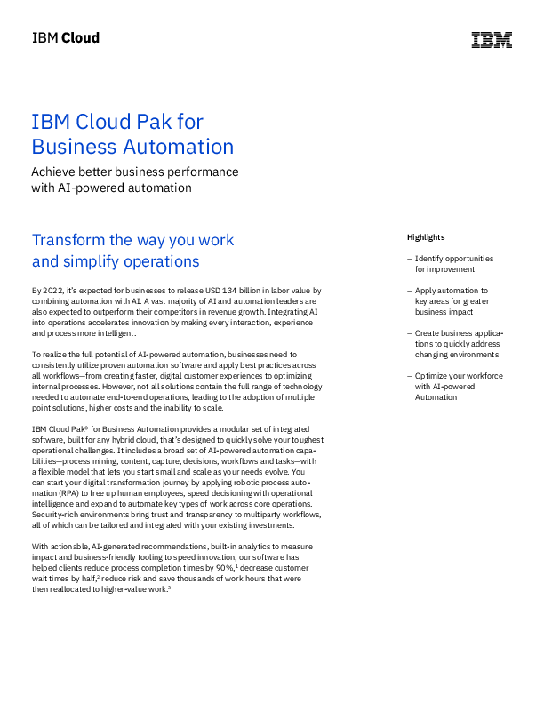 Thumb original ibm cloud pak for business automation