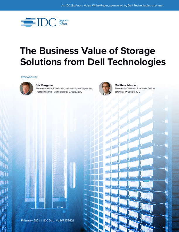 Thumb original idc the business value of storage solutions from dell technologies