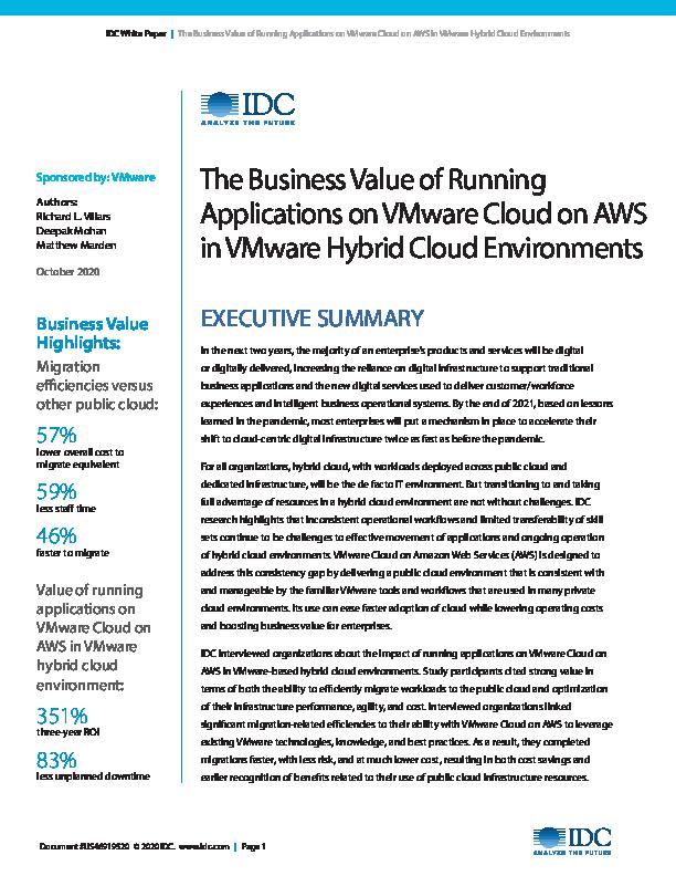 Thumb original 691726 2020 business value running applications vmware cloud aws vmware hybrid cloud environments