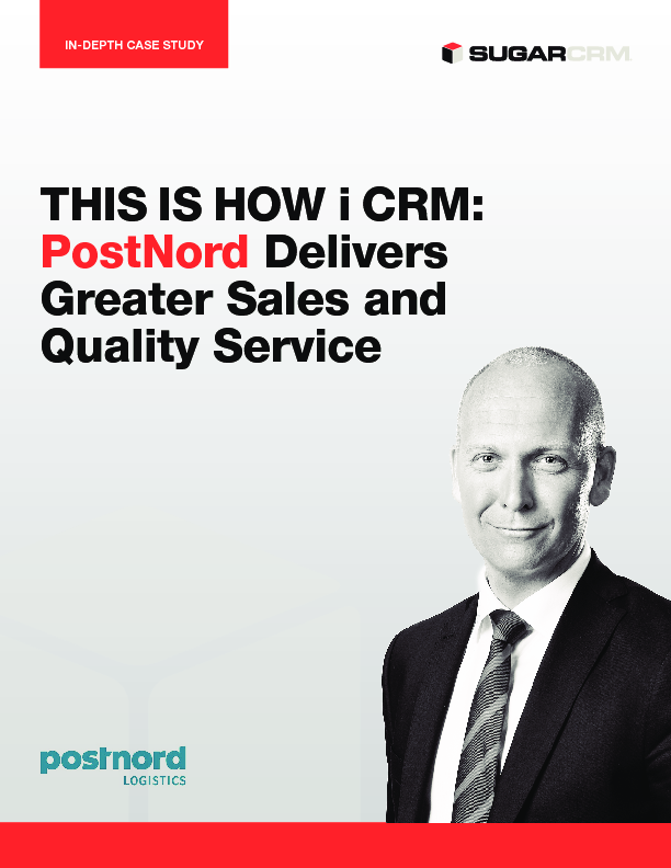 This is how I CRM - PostNord Delivers Greater Sales and Quality Service