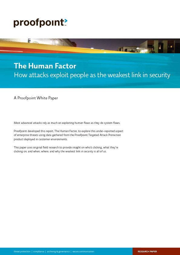 The Human Factor - How attacks exploit people as the weakest link in security